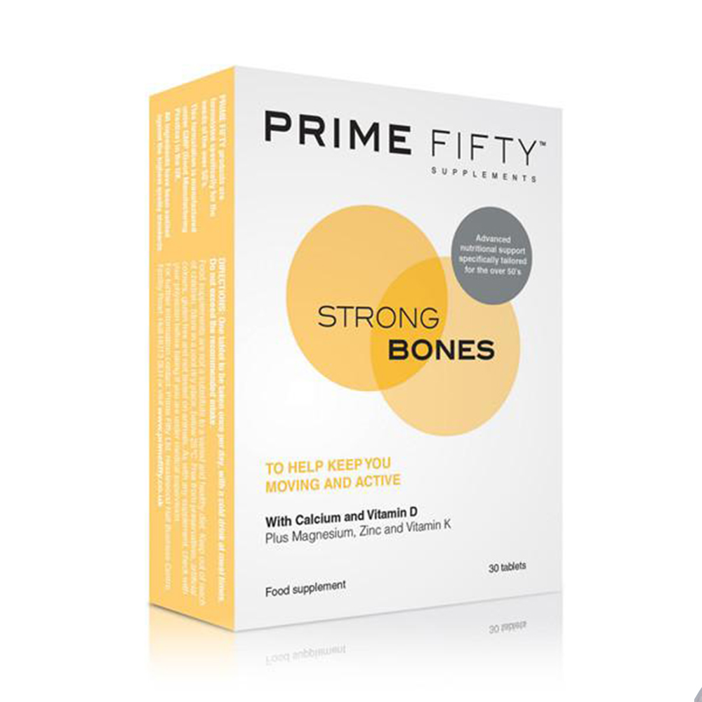 Prime Fifty Strong Bones Supplement 30 Capsules