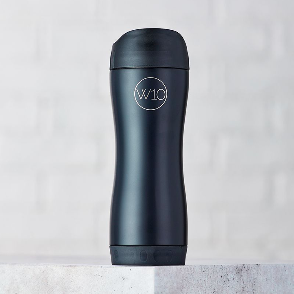 W10 Pembroke Black Insulated Travel Cup 360ml